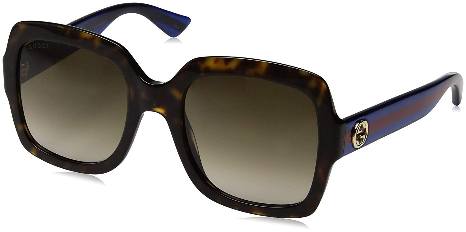 d374a11693  Gucci Classic Oversized Rectangular  Sunglasses  Amazon.in  Clothing    Accessories