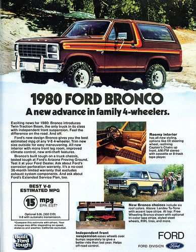 Scanned Advertising 1970 To 1990 Ford Bronco Bronco Automobile