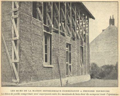 The \u201dMaison Feuillette\u201d was built in 1921 by Feuillette, an engineer - maison bois et paille