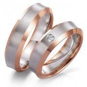 Rose- and white gold rings... His and hers