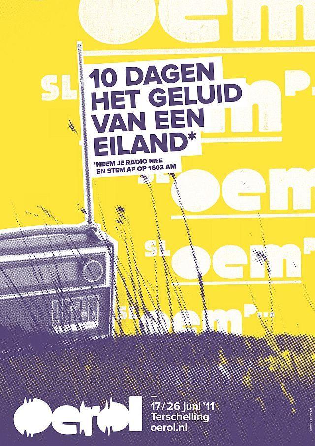 Poster Oerol 2011 (geel) (met afbeeldingen) Poster