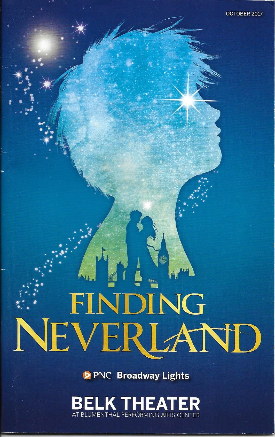 Finding Neverland Belk Theater Charlotte, NC 10/8/17