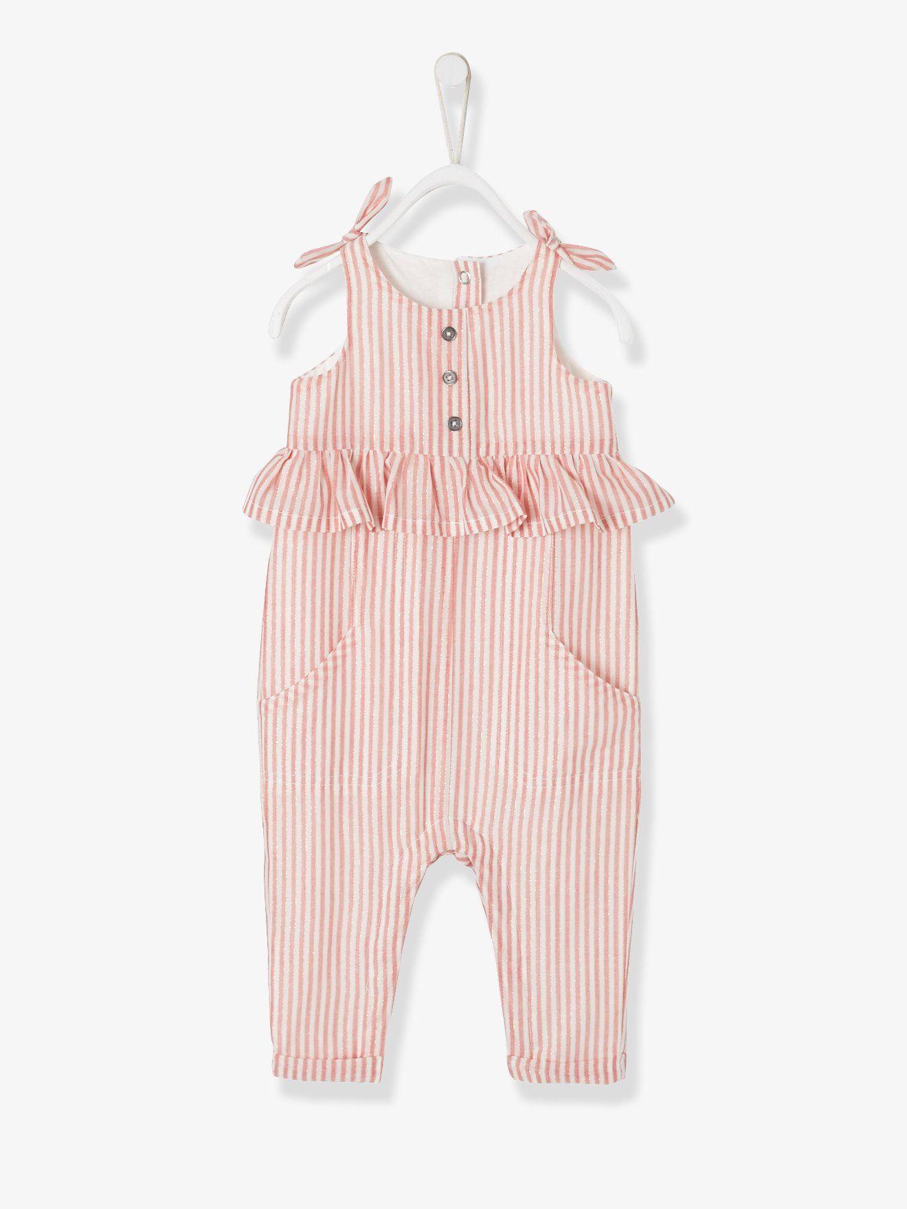 Schnelle Lieferung größte Auswahl großer Abverkauf Jumpsuit with Iridescent Stripes for Baby Girls - pink dark ...