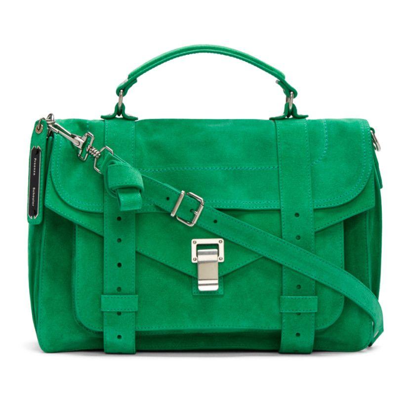 Proenza Schouler Green PS1 Medium Satchel