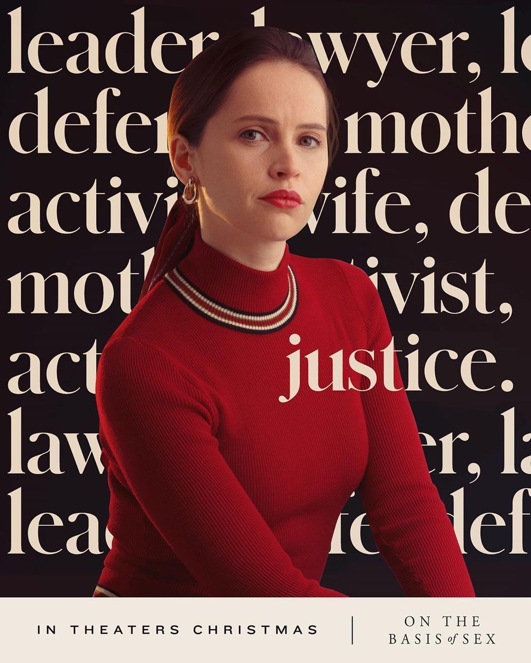 Mother Lawyer Activist Hero Felicityjones Is Ruthbaderginsburg In Onthebasisofsex Felicity Jones Running In The Dark Felicity