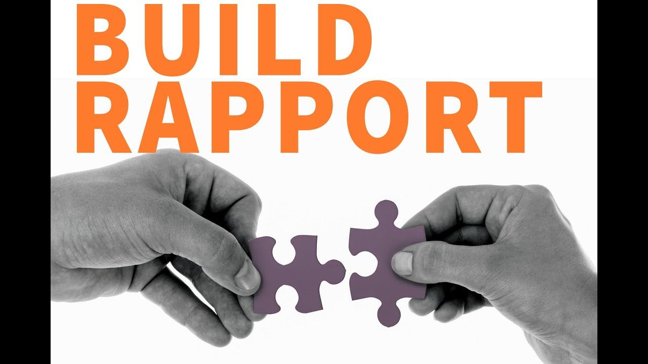 how to build a rapport with someone