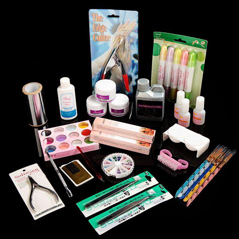 Nail Art Salon Tool Full Acrylic Liquid Powder Glue Kit Set acrylic ...
