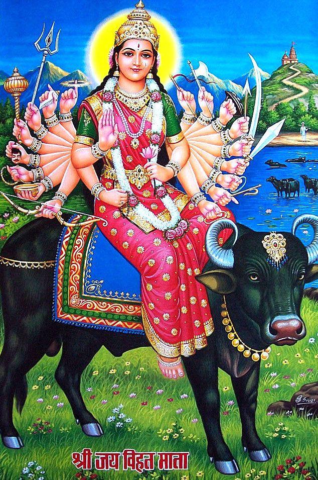 Vihat Maa Mata Hindu Art Ganesha Art Hindu Deities