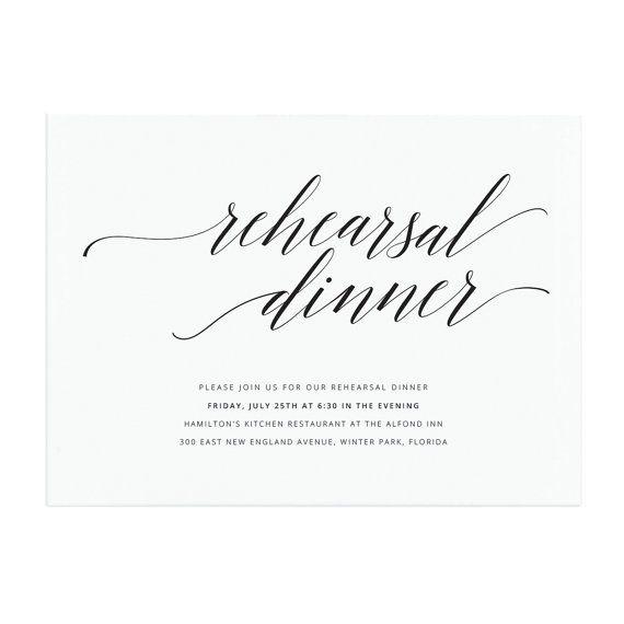 Printable Rehearsal Dinner Invitation Template Elegant Salon - dinner invitation template