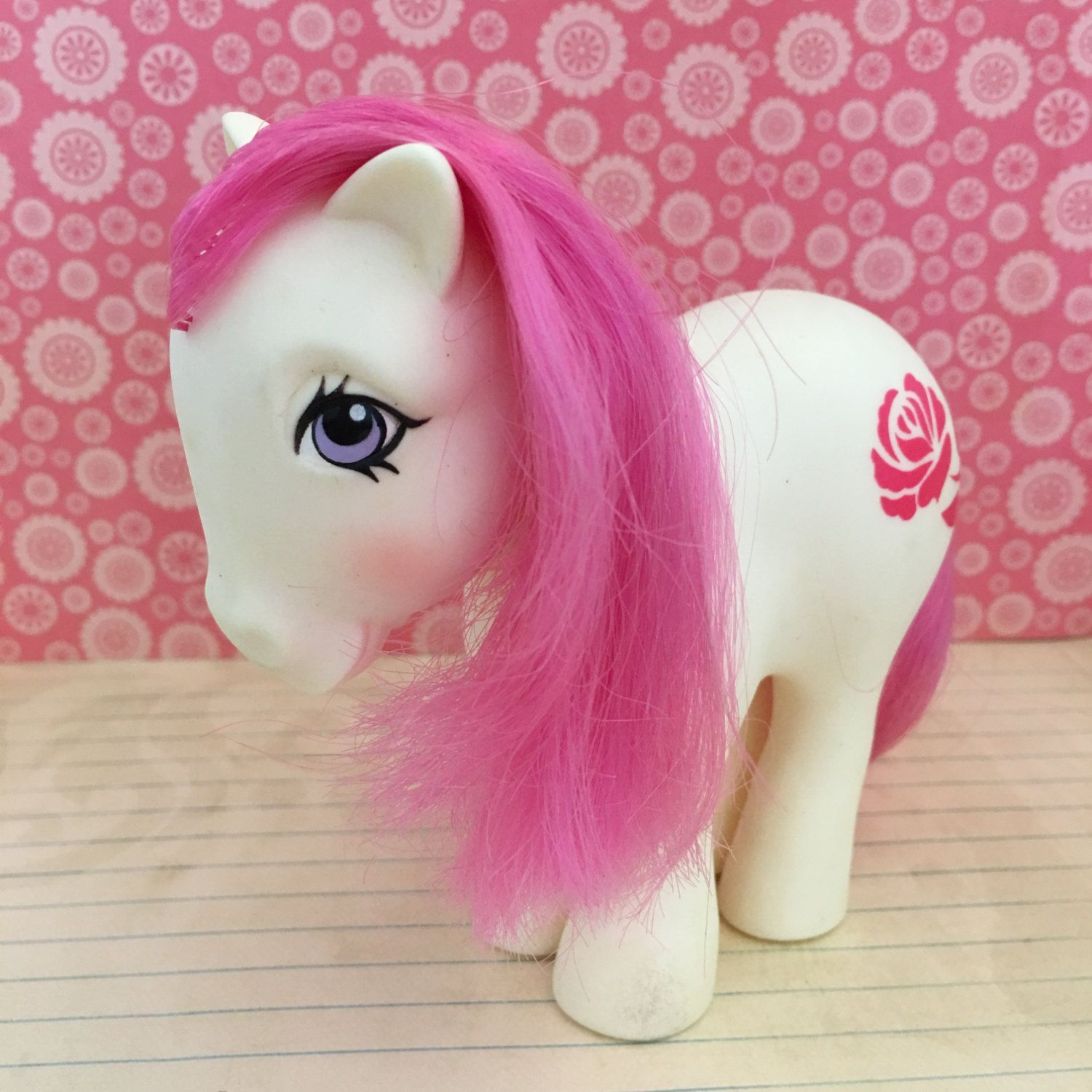 Vintage My Little Pony G1 1982 'June Rose' Birthday Pony