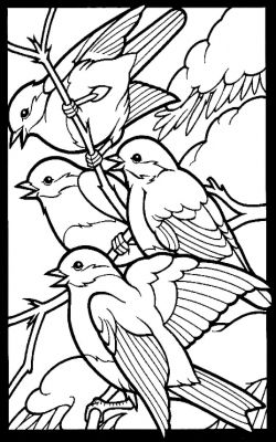 Four Calling Birds Bird Coloring Pages Coloring Books Animal Coloring Pages