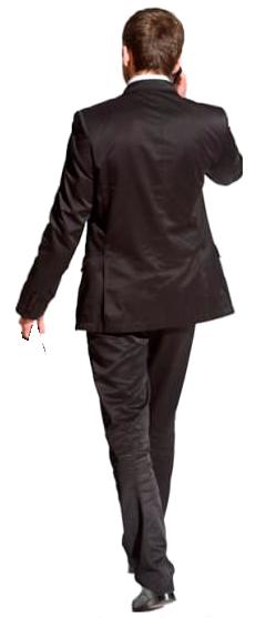 Cutout Man Walking Back Phone Render People People Cutout People Figures