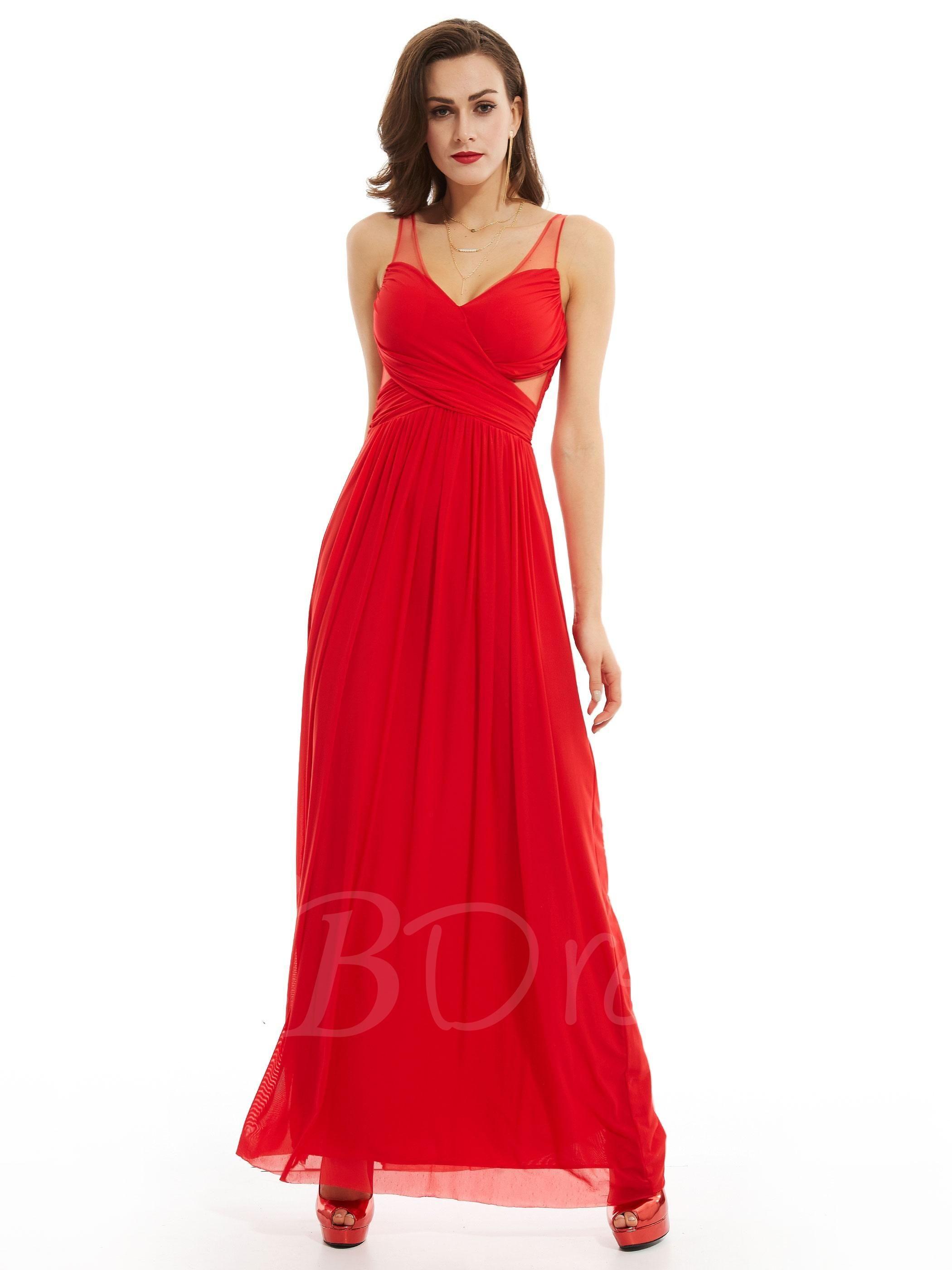 Tbdress tbdress v neck sleeveless zipperup long evening dress