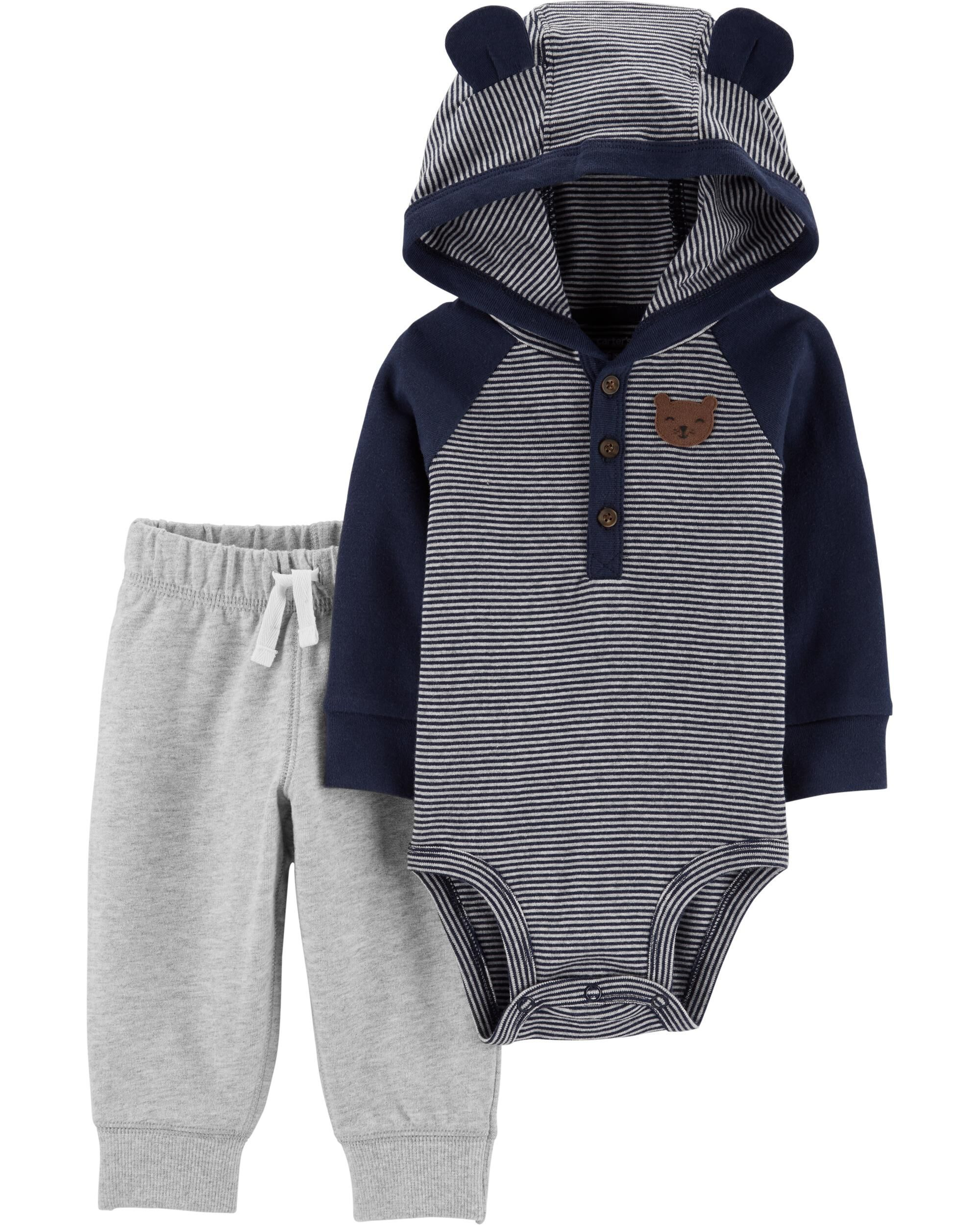 and Pant Set Unisex beb/é Simple Joys by Carters 4-Piece Neutral Jacket Bodysuit Pack de 4