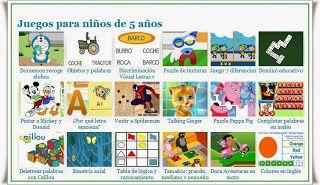 Infrarrojo De vez en cuando muelle  JUEGOS EDUCATIVOS PARA NIÑOS DE 3 A 5 AÑOS: JUEGOS EDUCATIVOS PARA NIÑOS DE  5 AÑOS. | Juegos educativos para niños, Niños de 5 años, Juegos educativos