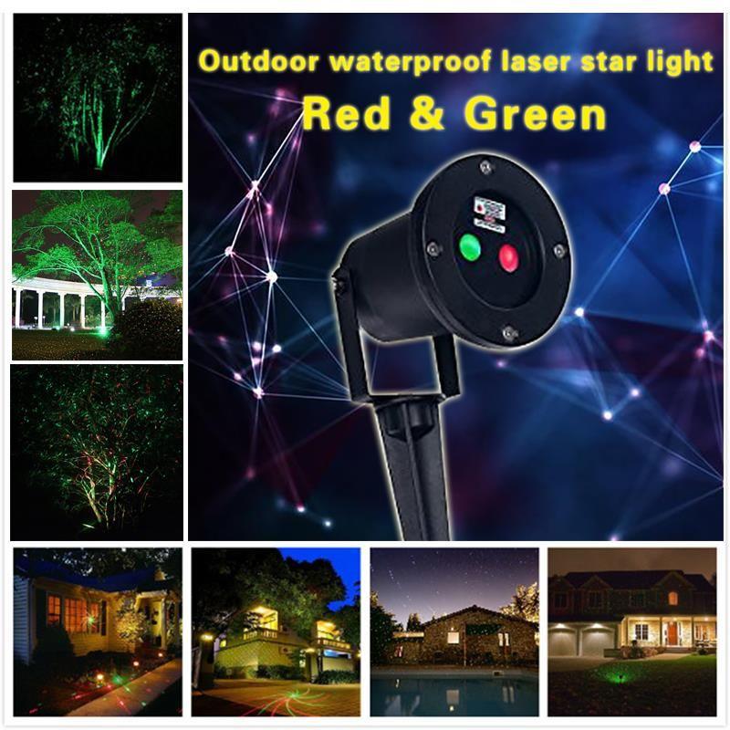 Five Star 110v 220v Us Eu Plug Outdoor Laser Christmas Lights Star Projector For Holiday Decoration Wedd Laser Christmas Lights Green Laser Star Projector