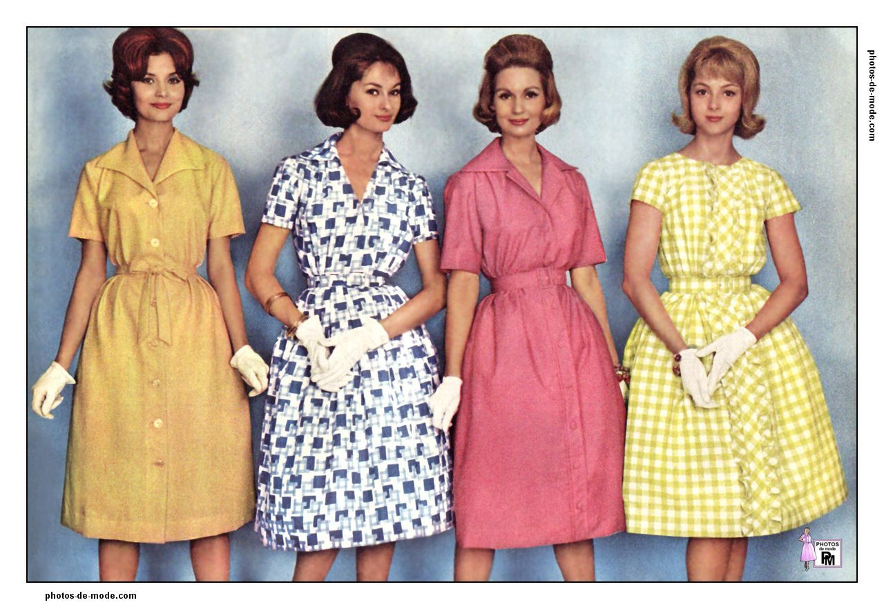 robes r tro 1960 vintage dress 60 39 s retro mode mode. Black Bedroom Furniture Sets. Home Design Ideas