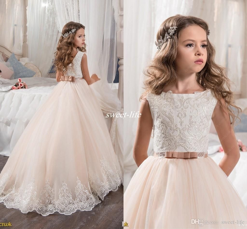b08626f4d free shipping, $69.65/piece:buy wholesale custom made flower girl dresses  for wedding blush pink princess tutu sequined appliqued lace bow 2017  vintage ...