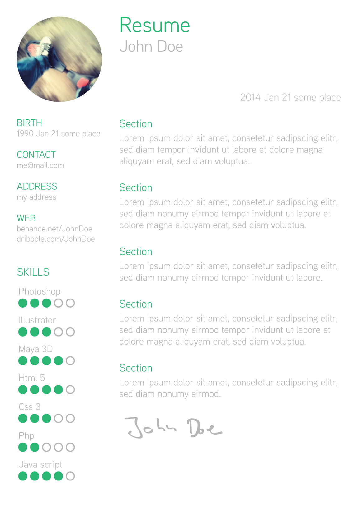 Resume Template by Tilman Roeder | professional | Pinterest