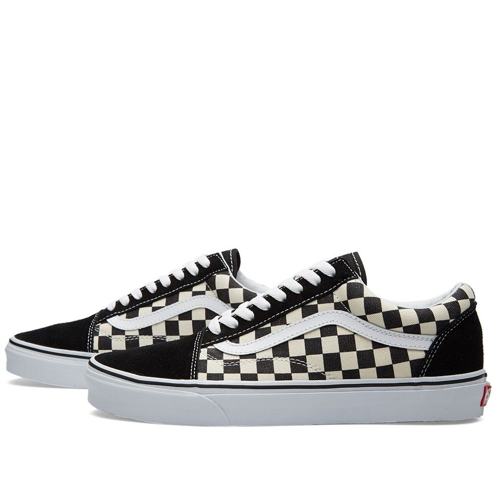 vans old skool checkerboard espresso uk