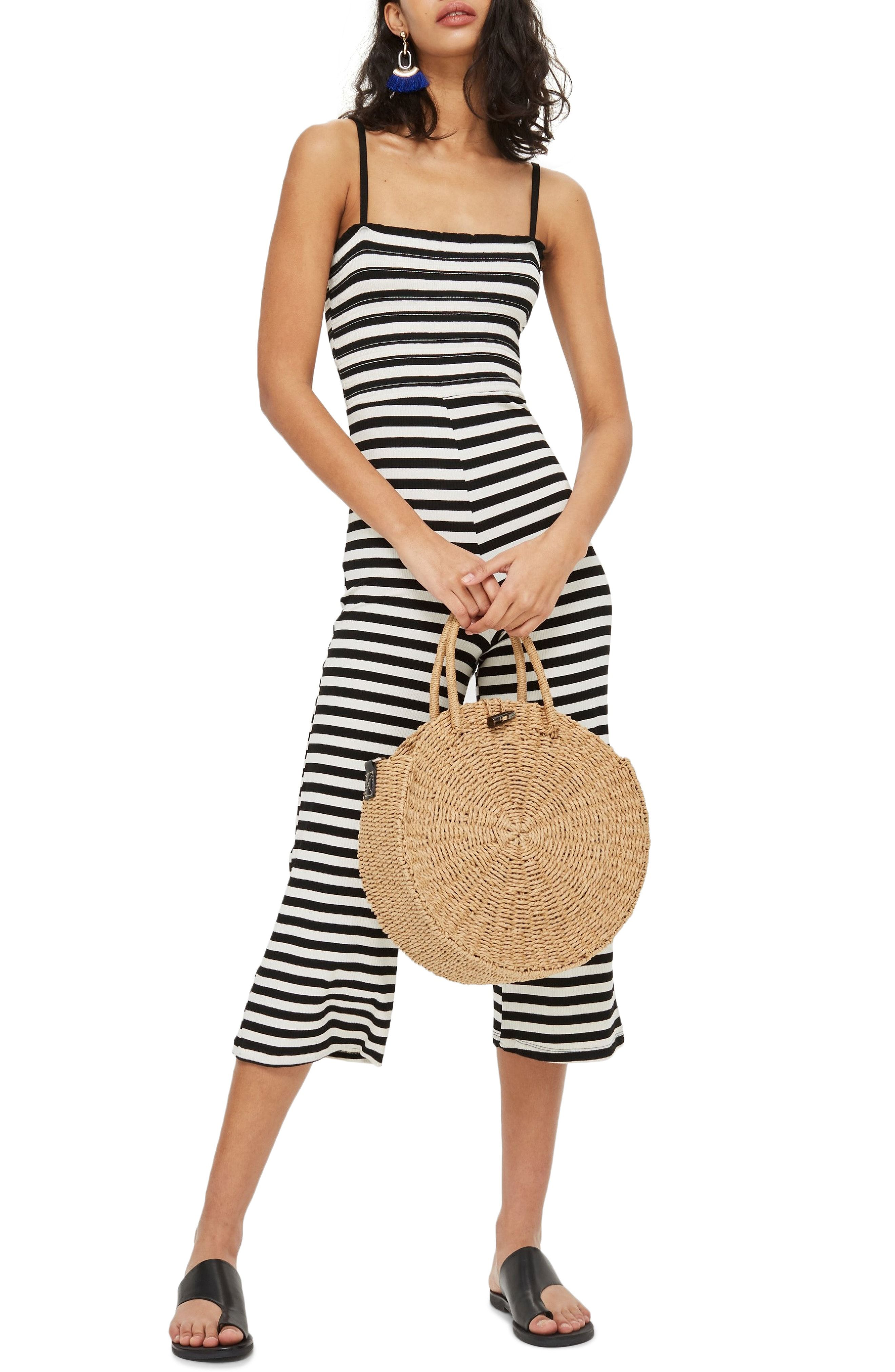 de756831b00fa Topshop Shirred Top Stripe Jumpsuit available at  Nordstrom