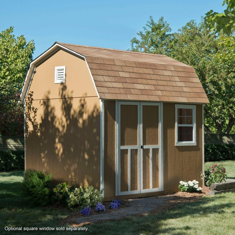 Handy Home Products Briarwood 10 ft. x 8 ft. Wood Storage ...