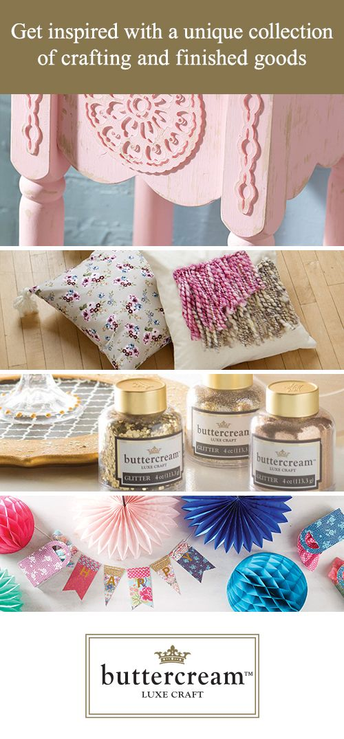 The Buttercream collection emphasizes your personal style with crafting and ready-made goods.