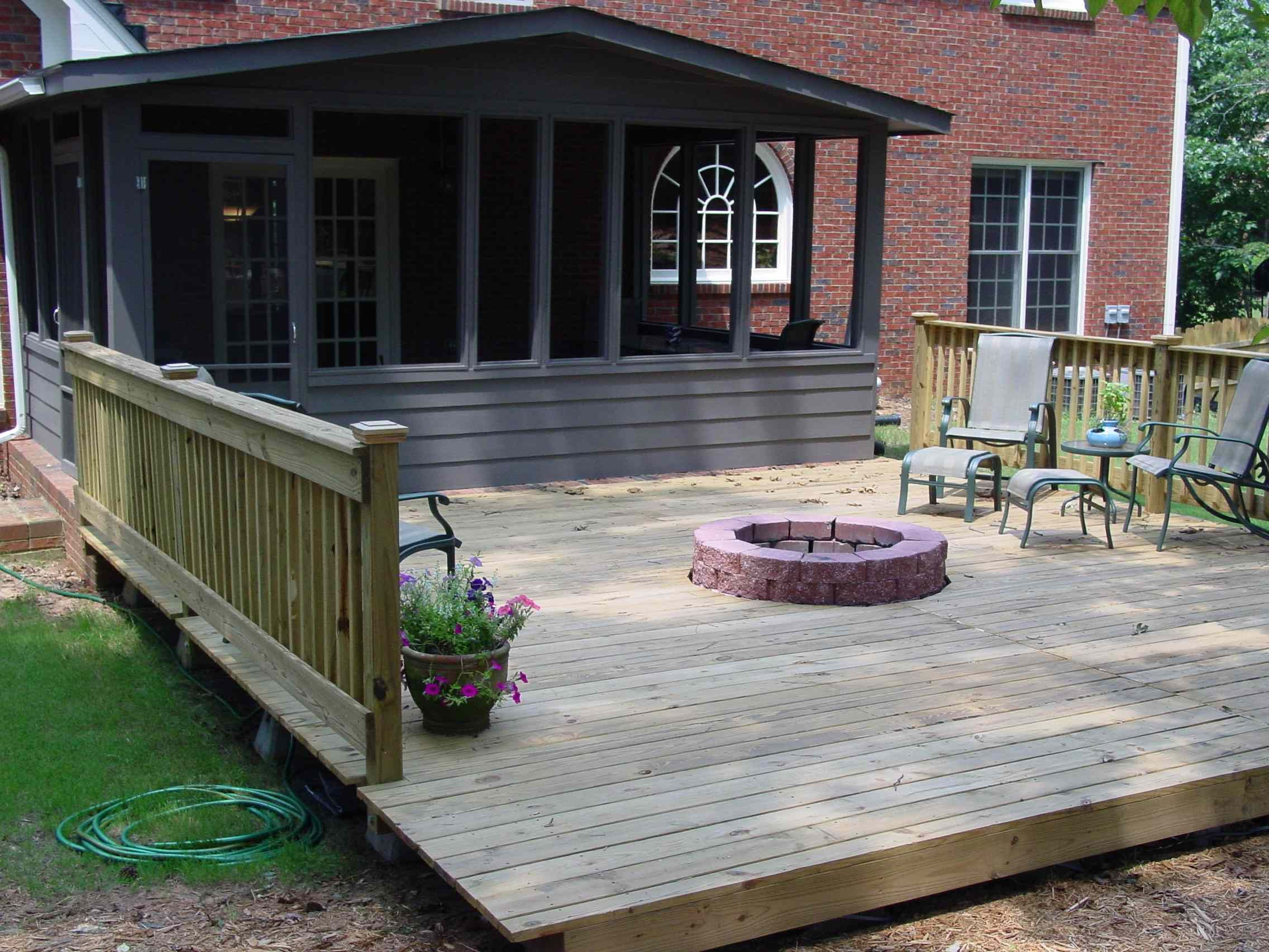 deck with fire pit quality home remodeling for the home