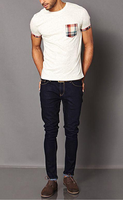 766d6a7a5 sapato casual masculino camurça e camiseta | Moda | Looks, Moda ...