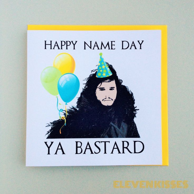 Game Of Thrones Jon Snow Birthday Card By Elevenkisses On Etsy Www