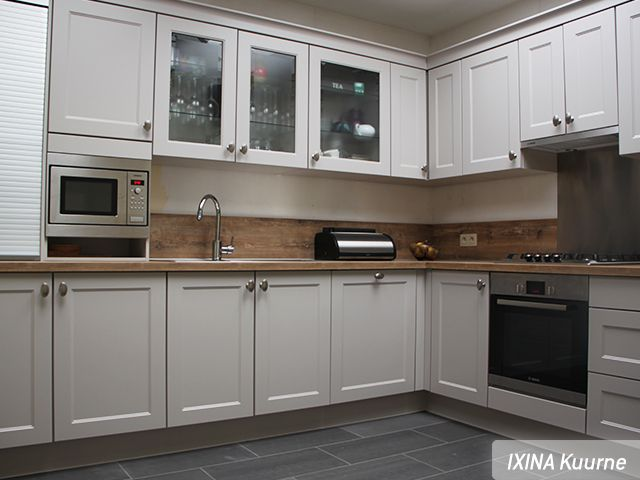 Keukenrealisatie - landelijke keuken - IXINA Kuurne / Réalisation ...