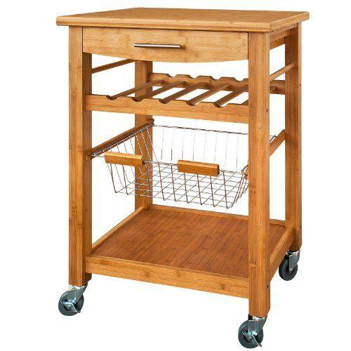 Servierwagen aus hochwertigem Bambus,Küchenwagen,Küchenregal, FKW - küchenwagen holz massiv