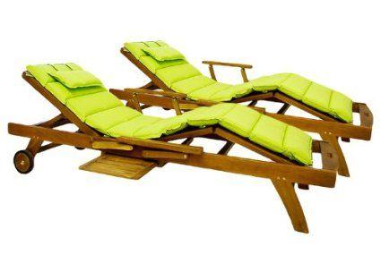 hochwertige auflage f r sonnenliege mit kopfkissen 2er set. Black Bedroom Furniture Sets. Home Design Ideas
