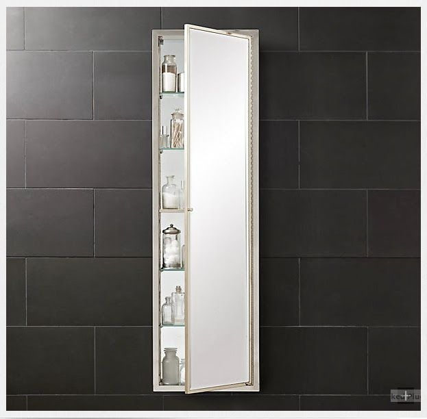 5 Ft Tall Recessed Medicine Cabinet With Mirror