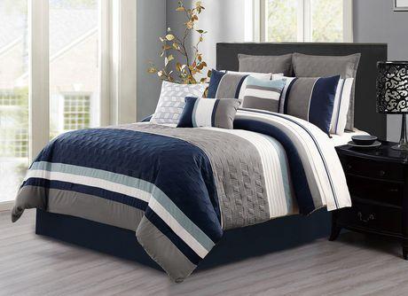 Saf Co Comforter Set 7pc Q, Queen Bed Comforter Sets Canada
