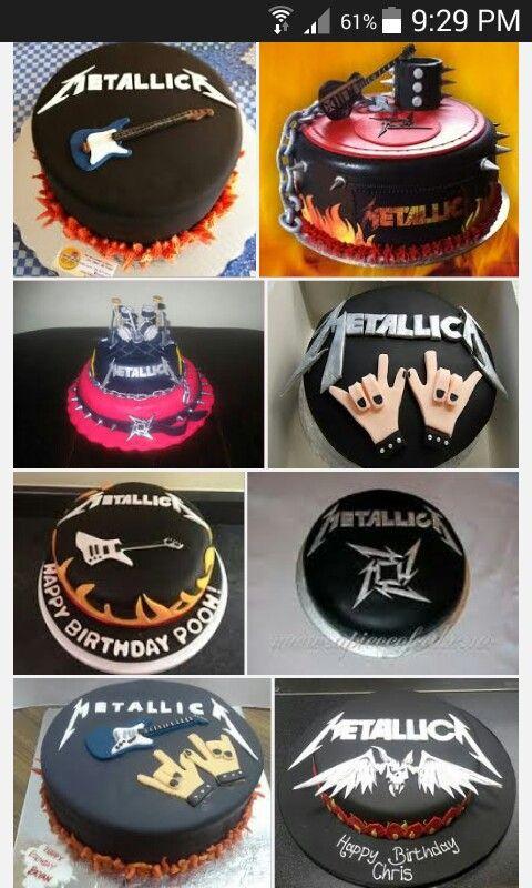 Metallica Cake Ideas Rock Cake Music Cakes Crazy Cakes