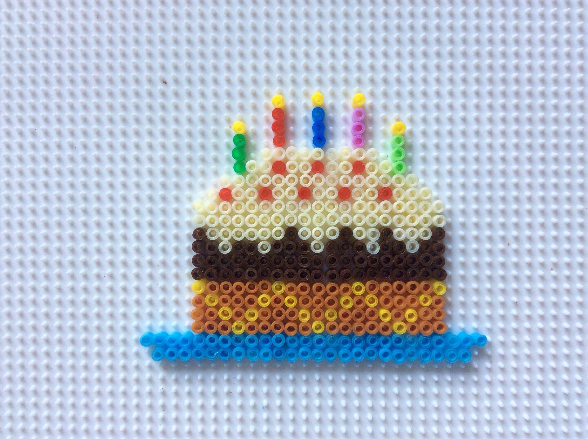 Birthday cake, tarta de cumpleaños con hama beads | aviya\'s ...