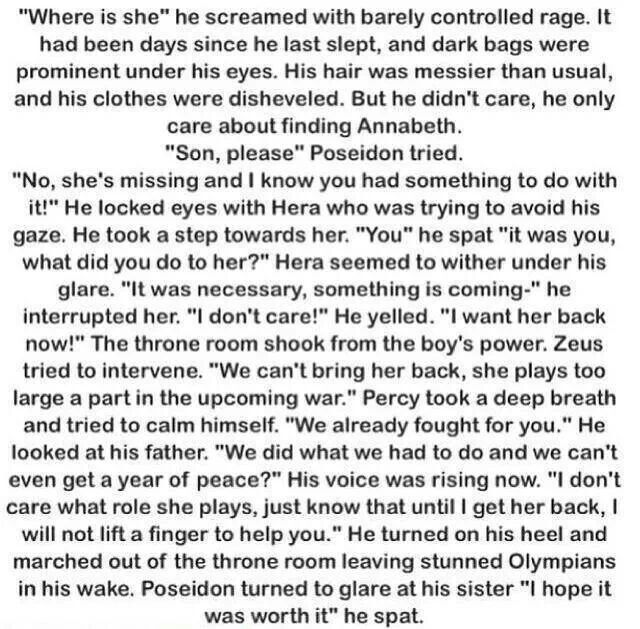 If Annabeth had gone missing instead of Percy   worth