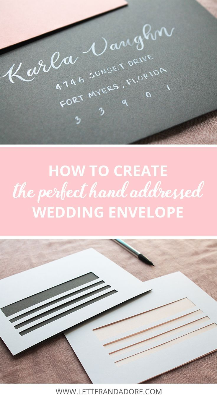 5 Tips for DIY wedding envelope addressing + 2 free downloadable ...