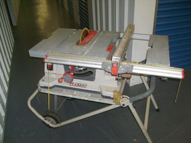 Details About Ridgid 10 Portable Table Saw With Folding