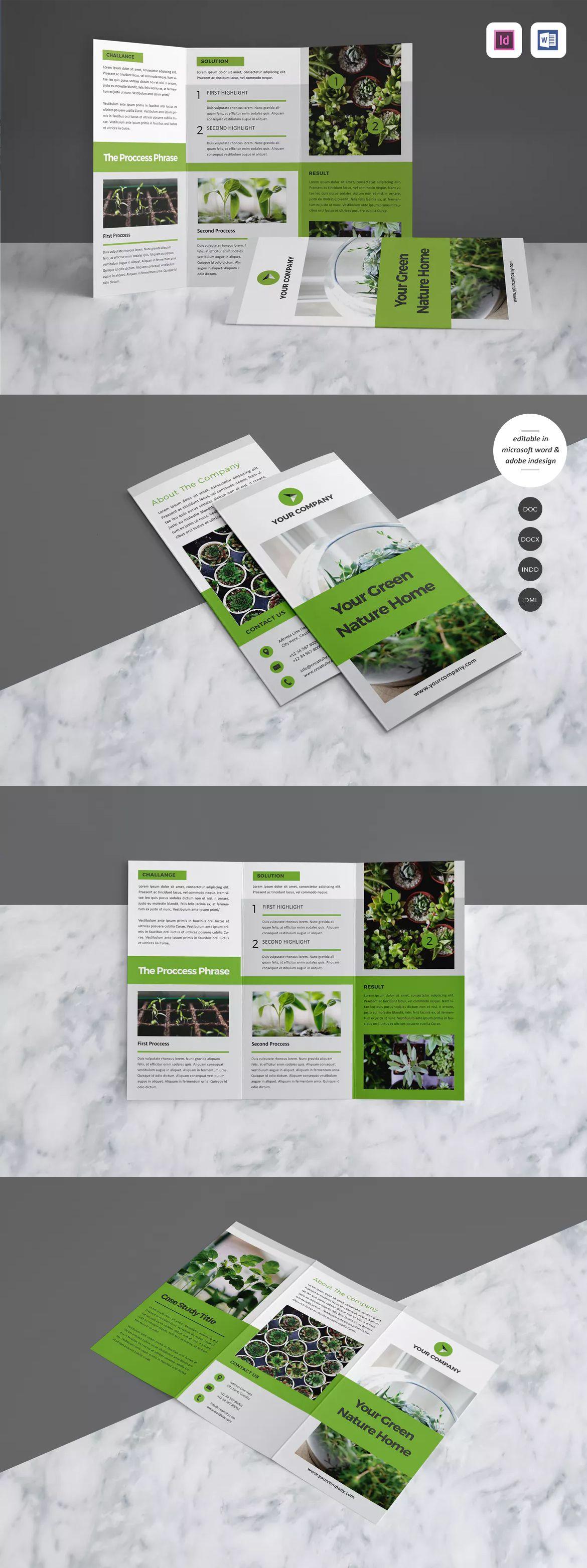 Case Study Brochure Template Indesign Indd A4 Brochure Design