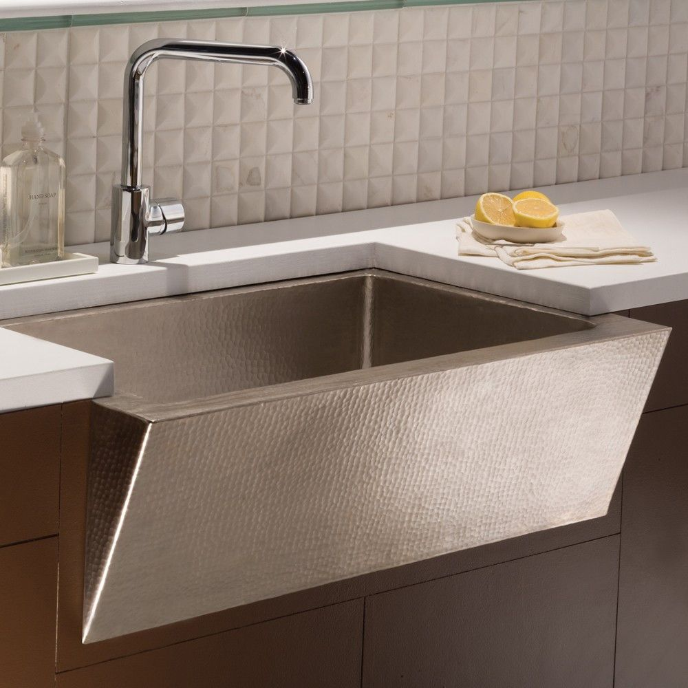Kitchen Sink In Bathroom Fascinating single basin stainless steel undermount copper kitchen the rich hand hammered surface of native trails angled apron front zuma sink is warm and versatile unexpected and contemporary its design is welcomed in workwithnaturefo