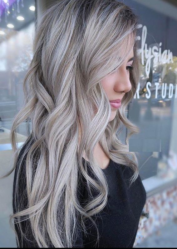 Gorgeous Icy Beige Blond Babylights Hair Colors To Follow In 2020 Beige Blonde Hair Hair Styles Ice Blonde Hair