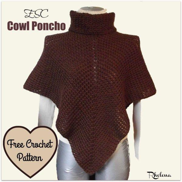 ESC Cowl Poncho | Ponchos, Capucha y Chal