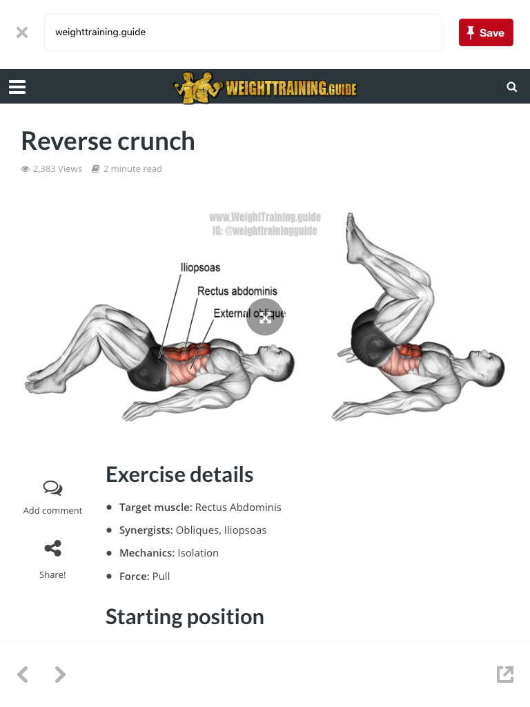 Pin by Carlo Afable on Getting Fit Abs workout, Reverse