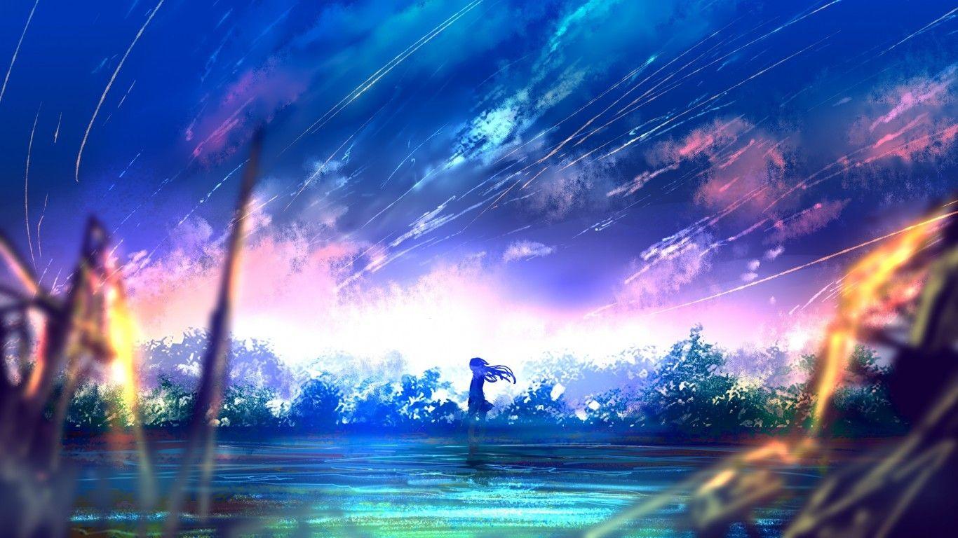 11 Aesthetic Anime Wallpaper 1366x768 Sachi Wallpaper In 2020 Scenery Wallpaper Landscape Wallpaper Anime Wallpaper
