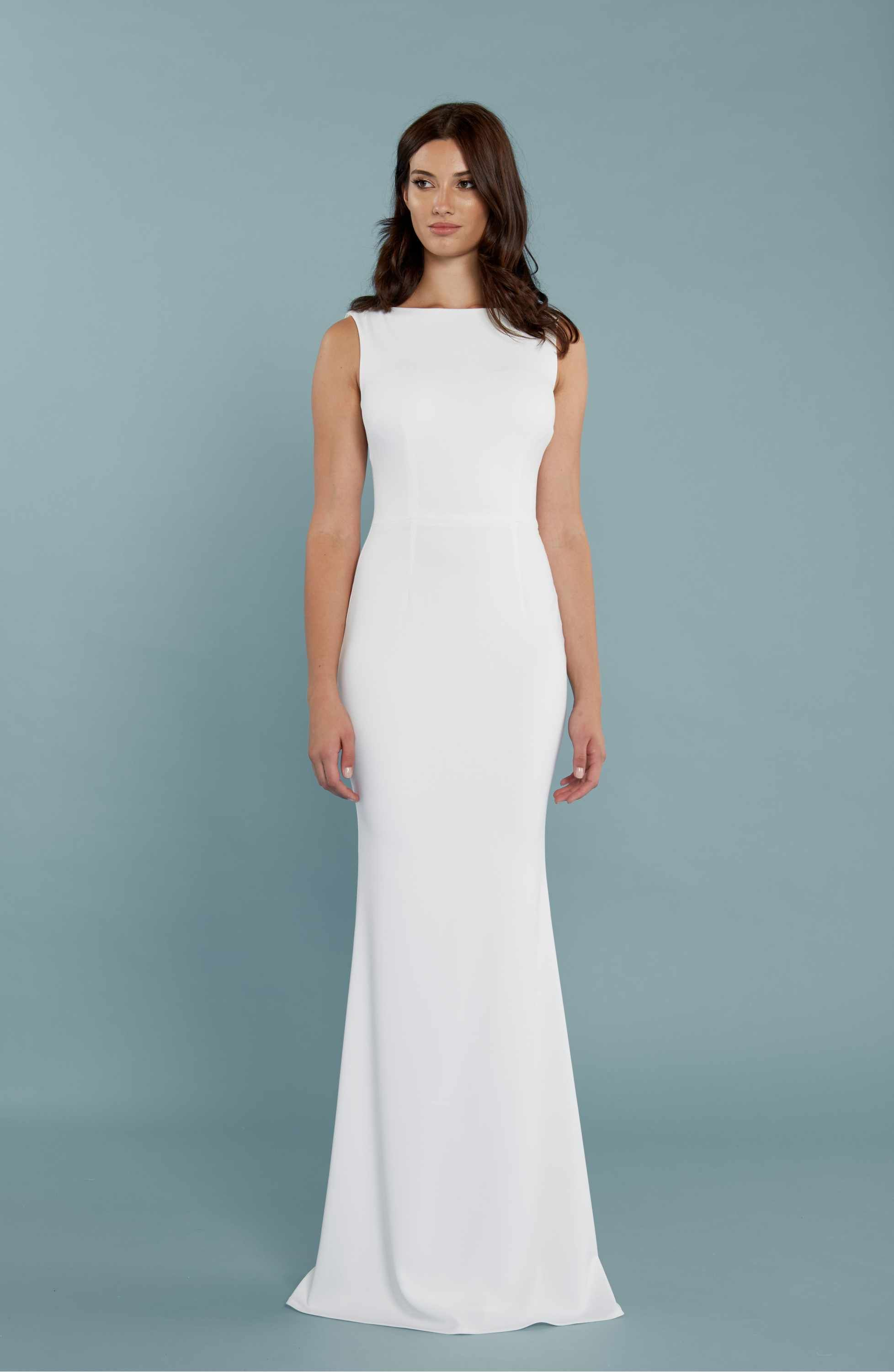 Main Image - Katie May Drape Back Crepe Gown | Dresses | Pinterest ...