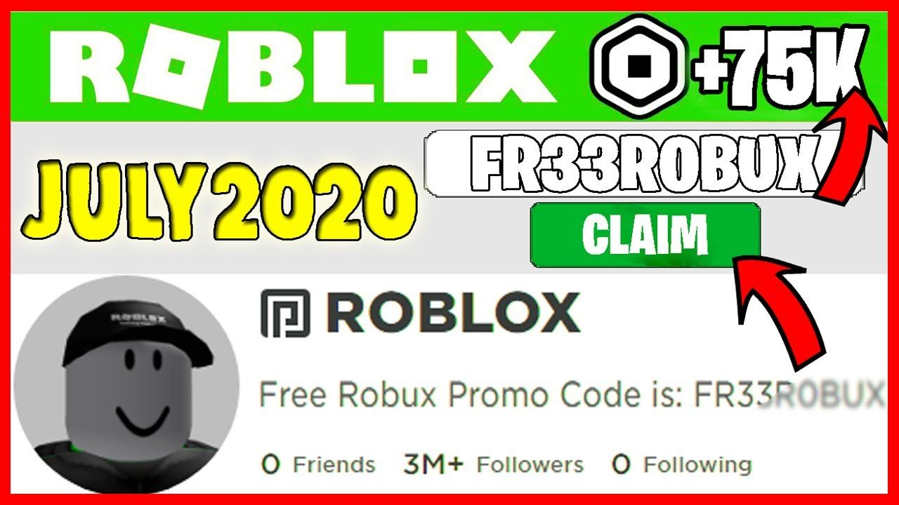 Code Free July New Roblox Promo Code Gives Free Robux July 2020 Roblox Promo Codes Roblox Generator