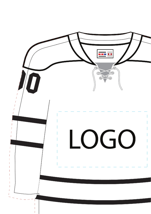 Need a Hockey Jersey Template? Here's a free template