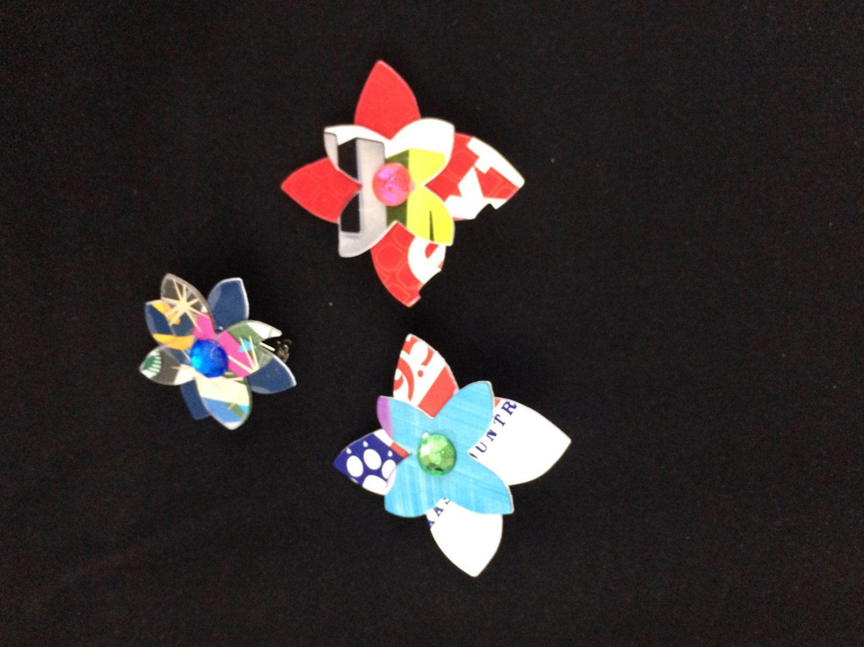 Flower Power Pin (set 2) by ericacatlett on Etsy